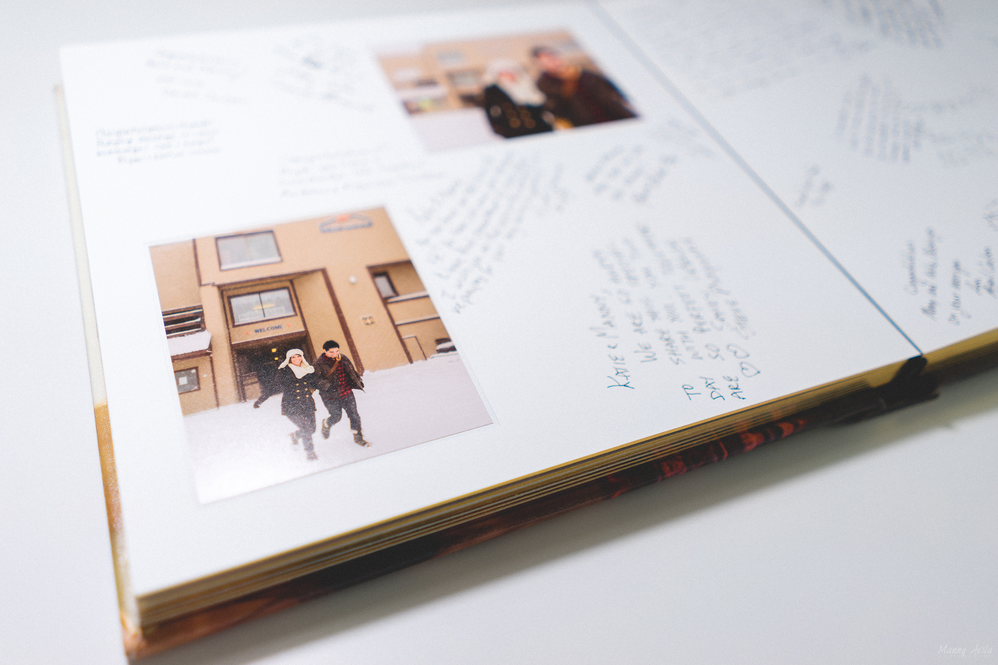We had a large wedding of 400 guests so we received quite of bit of awesome notes in our book.