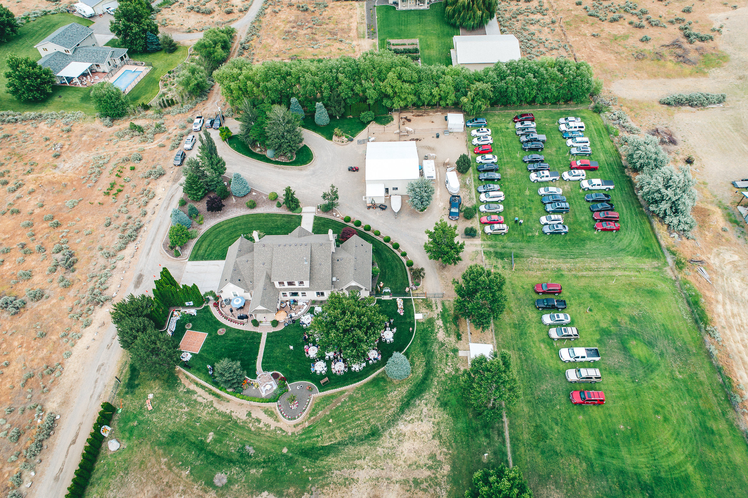 tri-cities aerial drone wedding photography