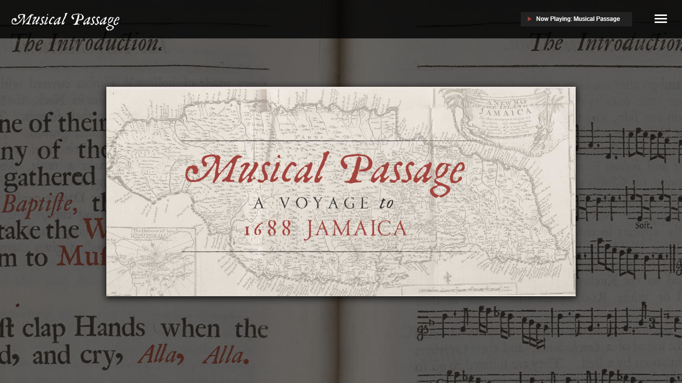 A careful interpretation of a single rare artifact, from Hans Sloane's 1707  Voyage to the Islands of Madera, Barbados, Nieves, S. Christophers and Jamaica, which includes several pieces of music that make it possible to hear echoes of performances long past