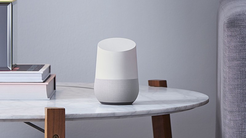Google Home (with Google Assistant) in an living room environment