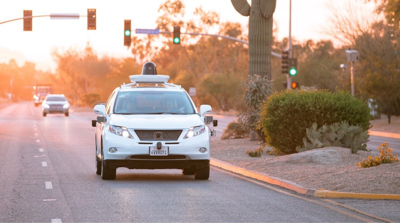 Google's Waymo connected with a regular car