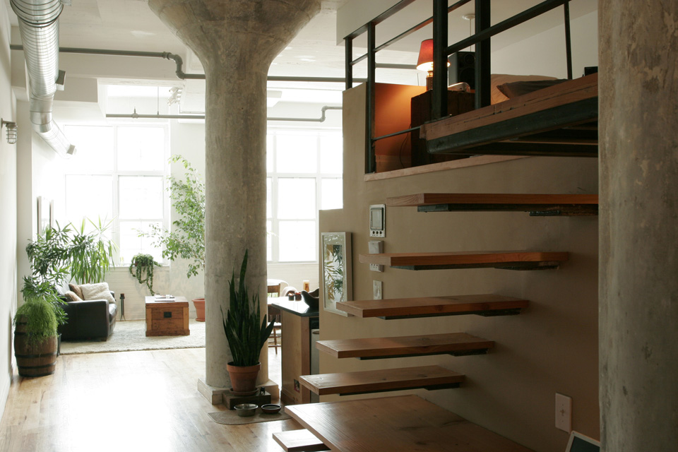 Blythe Design Studio floating stairs