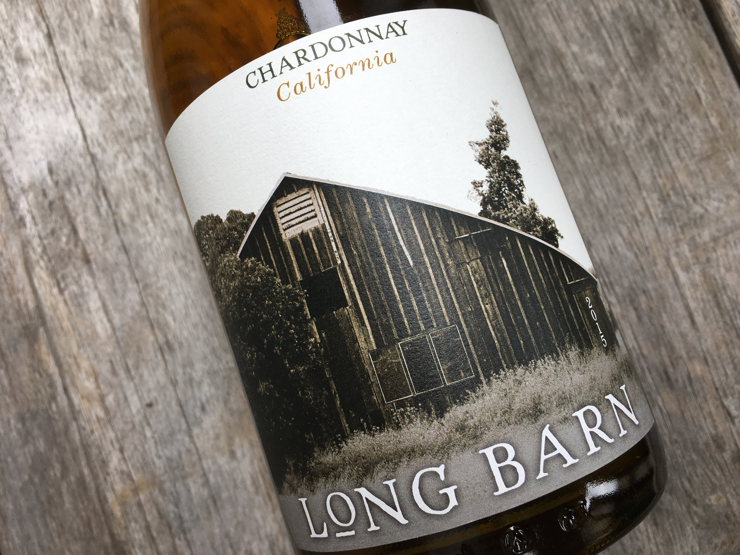 Long Barn Chardonnay(front): package design