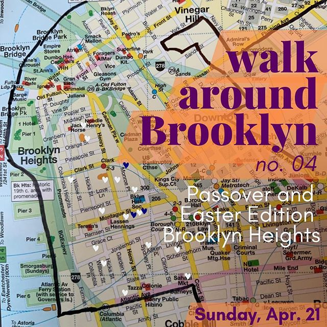 We're out walking in BK today. Come join for a stroll through Brooklyn Heights, a meandering people-watching adventure!  Pesach Sameach and Happy Easter! #walkaroundbrooklyn #brooklynheights #brooklyn