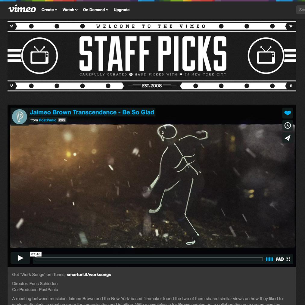 VIMEO Staff Picks April 22 2016