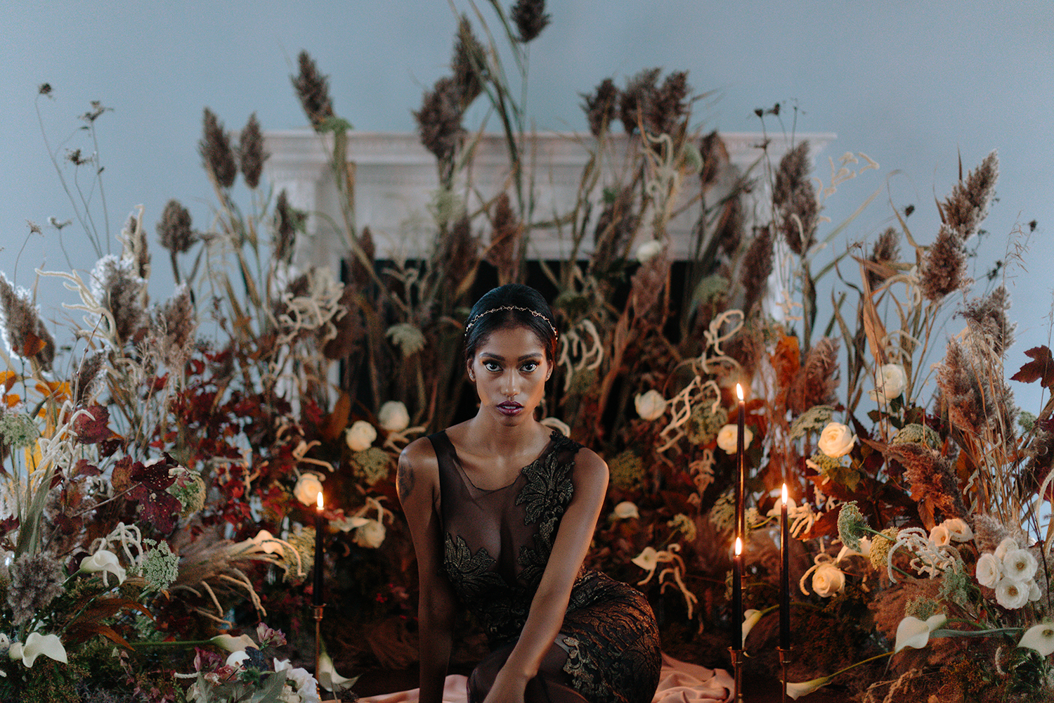 ryanne-hollies-photography-campbell-house-stylized-shoot-ballroom-floral-floor-alter-black-bride-narces-gown-beyonce-fine-art-artistic-creative-portrait-stunning-model-candlelight-inspiration-wedding-witchcraft.jpg
