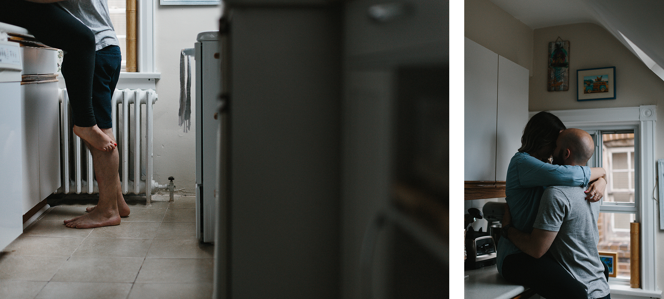 spread-7-downtown-toronto-in-home-engagement-session-toronto-wedding-photographer-ryanne-hollies-photography-documentary-candid-natural-photos-engaged-in-toronto-couple-in-the-kitchen-apartment-hot-and-steamy.jpg