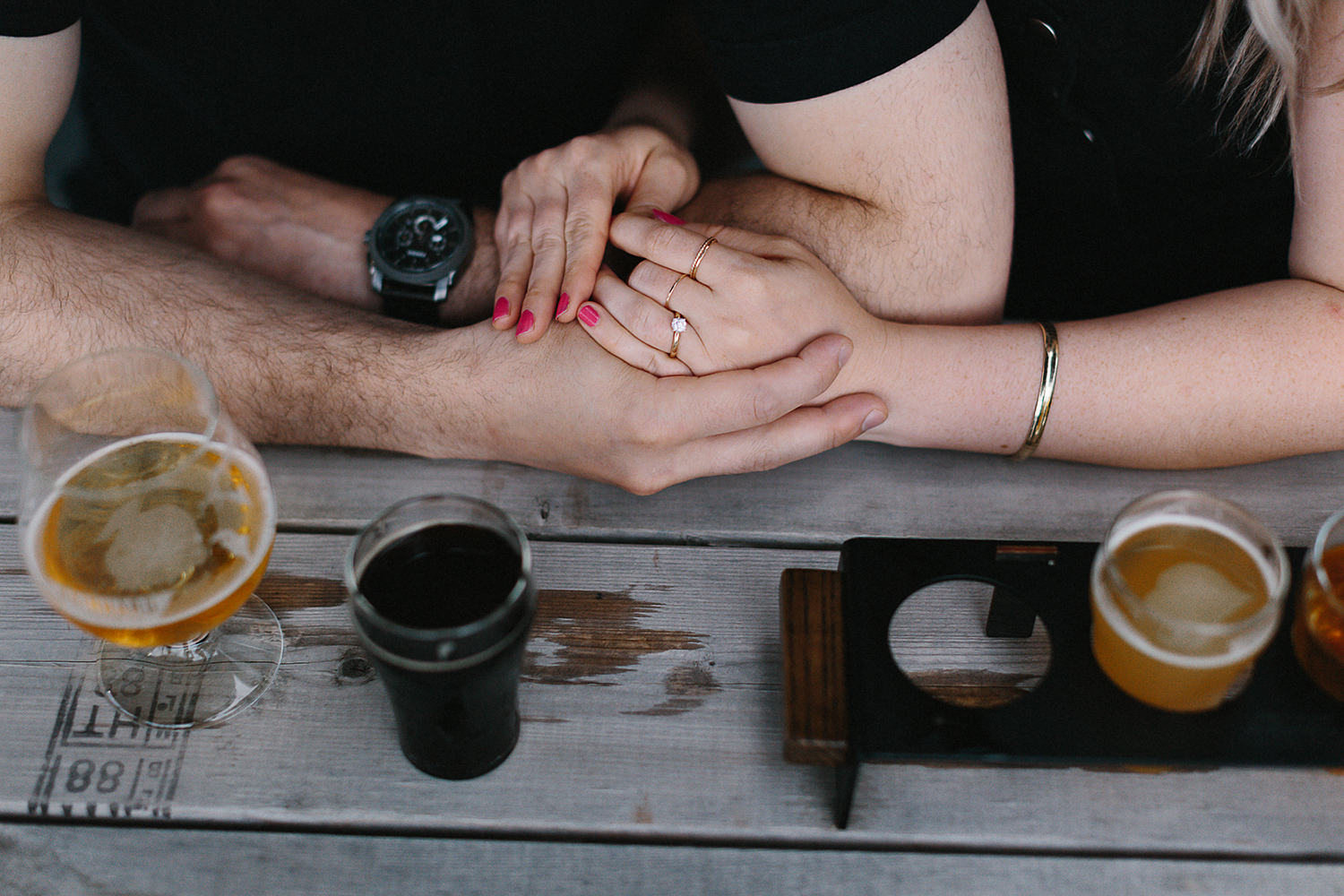downtown-toronto-in-home-engagement-session-toronto-wedding-photographer-ryanne-hollies-photography-documentary-candid-natural-photos-engaged-in-toronto-brewery-engagement-photos-fun-enjoyable-unique-couple-details-engagement-ring.jpg