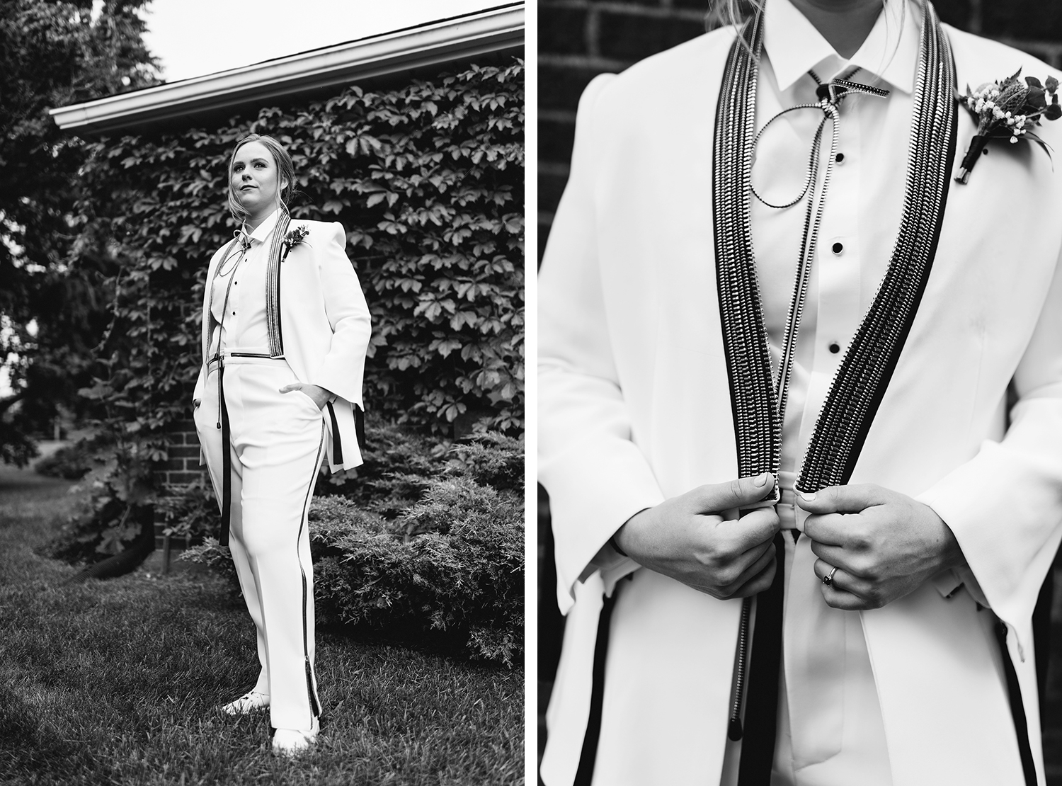 28-cambium-farms-wedding-toronto-wedding-photographer-ryanne-hollies-photography-farmhouse-rustic-vintage-boho-wedding-inspiration-bride-white-suit-ready-portrait-editorial-badass-suit-details-zippers-bw.jpg
