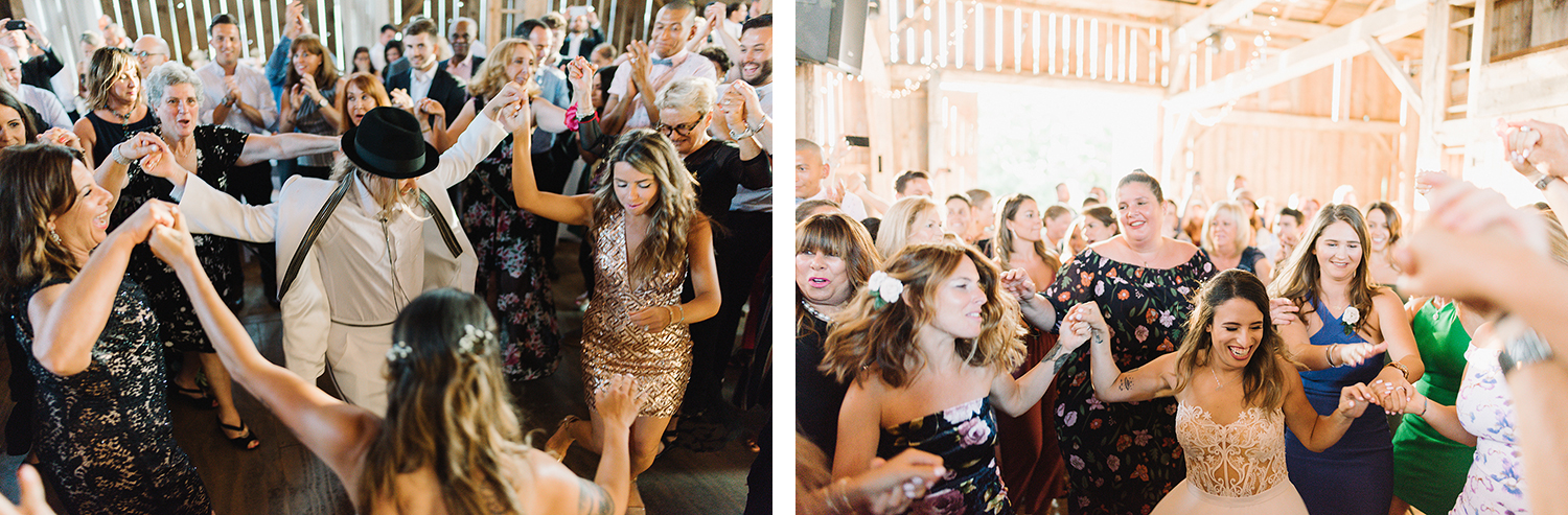 33-cambium-farms-wedding-ryanne-hollies-photography-gay-wedding-lgbtq-trendy-cool-badass-junebug-weddings-inspiration-cocktail-hour-bride-and-bride-entering-reception-celebration-horah-jewish-tradition-bride-dancing.jpg