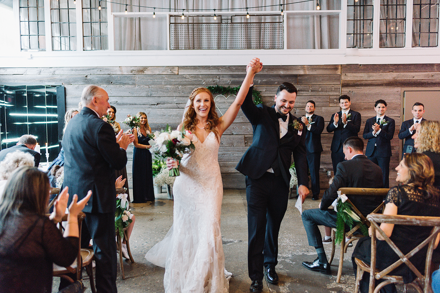 downtown-toronto-wedding-photographer-ryanne-hollies-photography-airship37-distillery-district-wedding-day-modern-minimalist-venues-in-toronto-ceremony-documentary-moments-bride-and-groom-just-married-recessional-epic.jpg