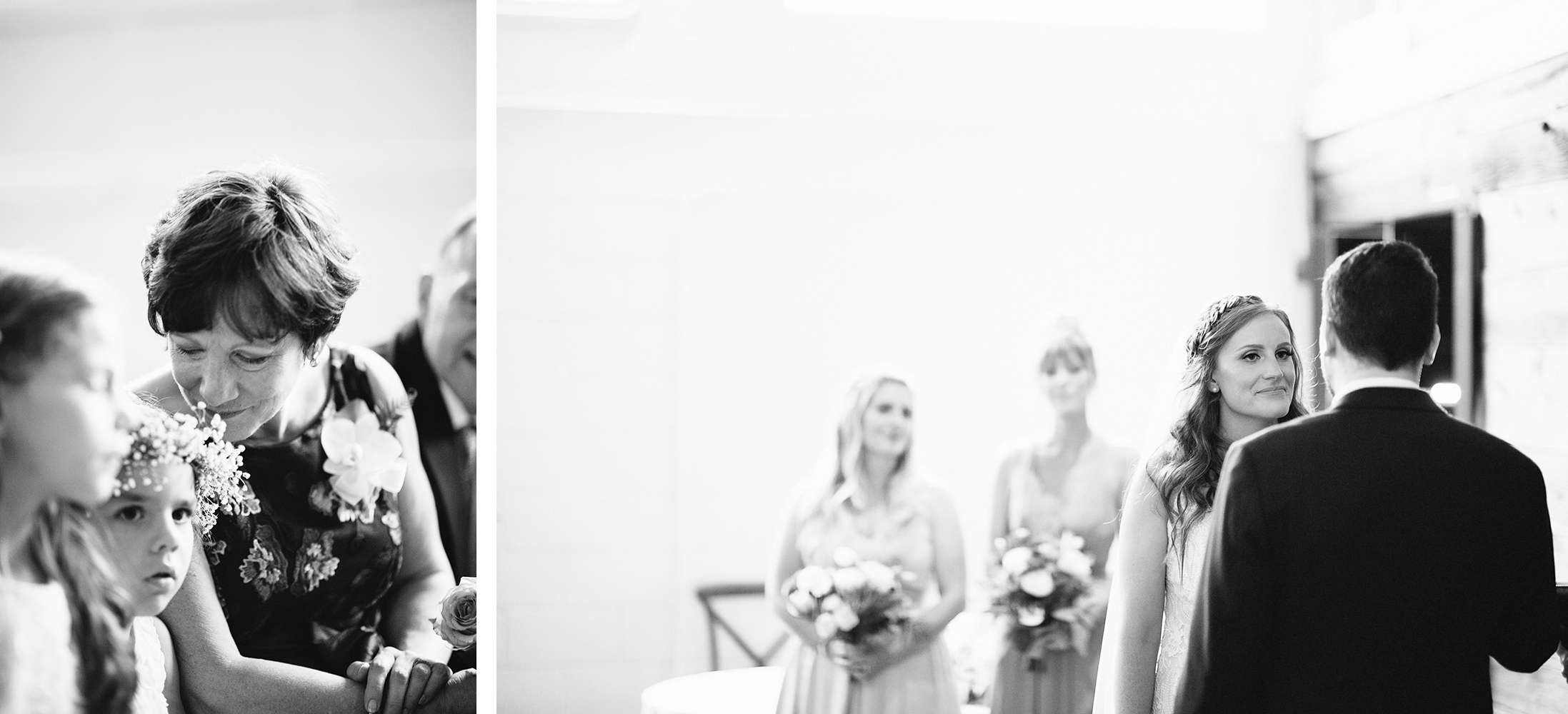 17-downtown-toronto-wedding-photographer-ryanne-hollies-photography-airship37-distillery-district-wedding-day-modern-minimalist-venues-in-toronto-ceremony-documentary-moments-bride-saying-vows-emotional-beautiful-bw.jpg