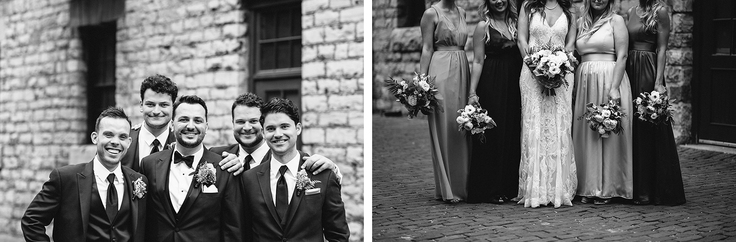 20best-documentary-wedding-photographers-ryanne-hollies-photography-fine-art-photojournalism-artistic-moody-creative-inspiration-downtown-toronto-airship37-distillery-district-bride-with-bridesmaids-candid-details-of-large-bouquets-bw.jpg