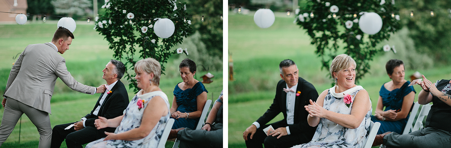 5-Backyard-family-intimate-cottage-wedding-chatum-kent-toronto-ontario-film-photographer-ryanne-hollies-photography-diy-string-lights-ceremony-space-lanterns-groom-waiting-helping-dad-with-tie.jpg