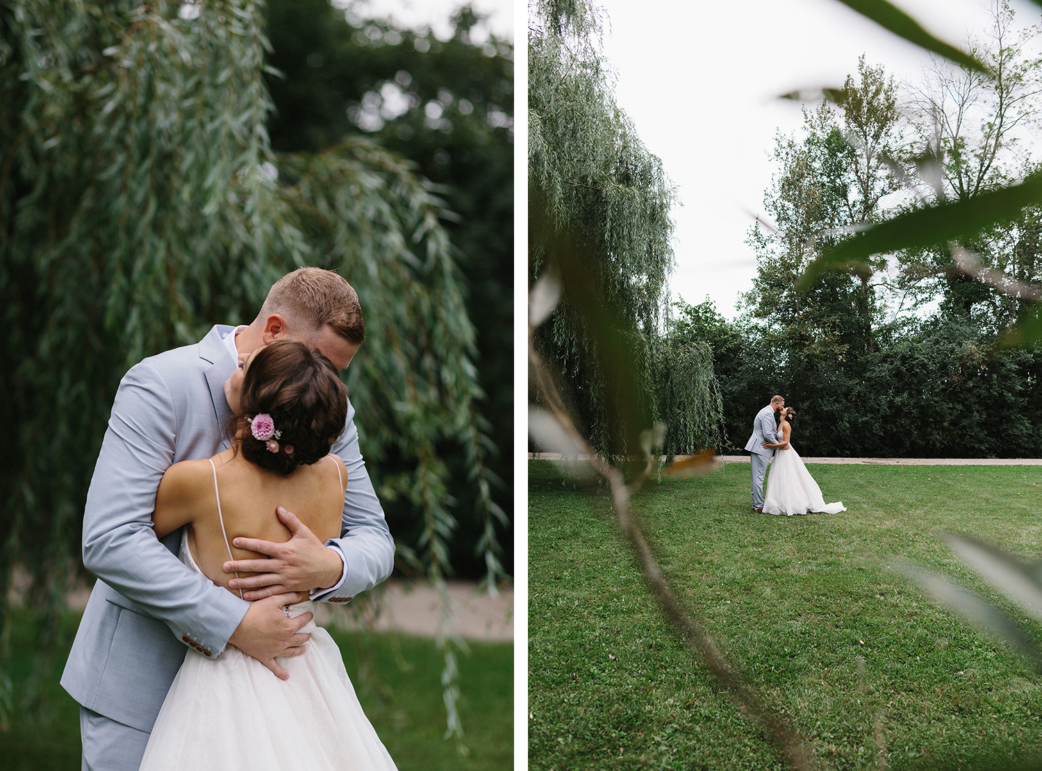 11-Best-Toronto-Wedding-Photographers-Photojournalistic-Wedding-Photography-in-Toronto-Ryanne-Hollies-Photography-candid-documentary-bradford-family-farm-first-look-inspiration-in-willow-trees-real-moments-reaction-emotional-hug.jpg