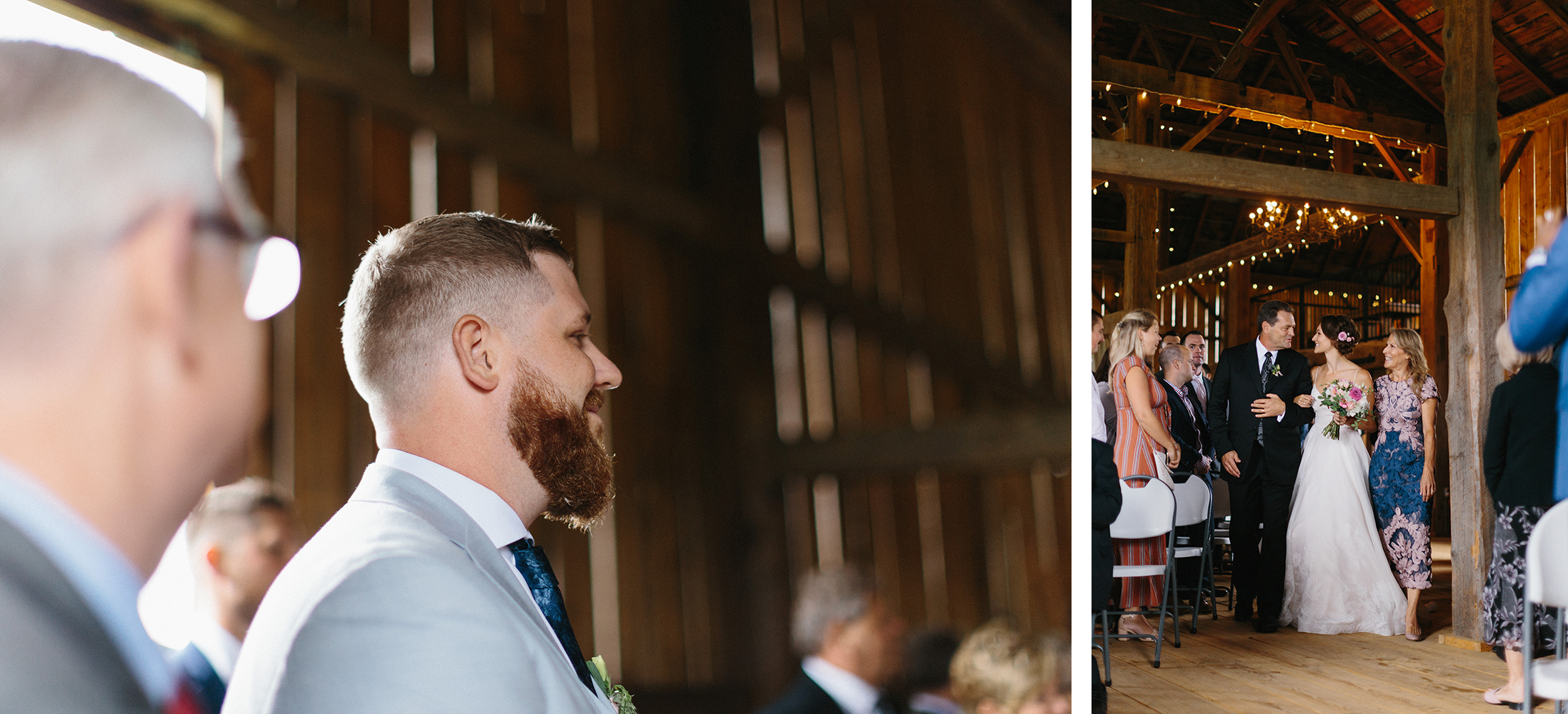 27-Editorial-Toronto-Wedding-Photographers-Photojournalistic-Wedding-Photography-in-Toronto-Ryanne-Hollies-Photography-candid-documentary-bradford-barn-farm-wedding-venue-rustic-inspiration-indoor-ceremony-bridesmaid-and-groomsman.jpg
