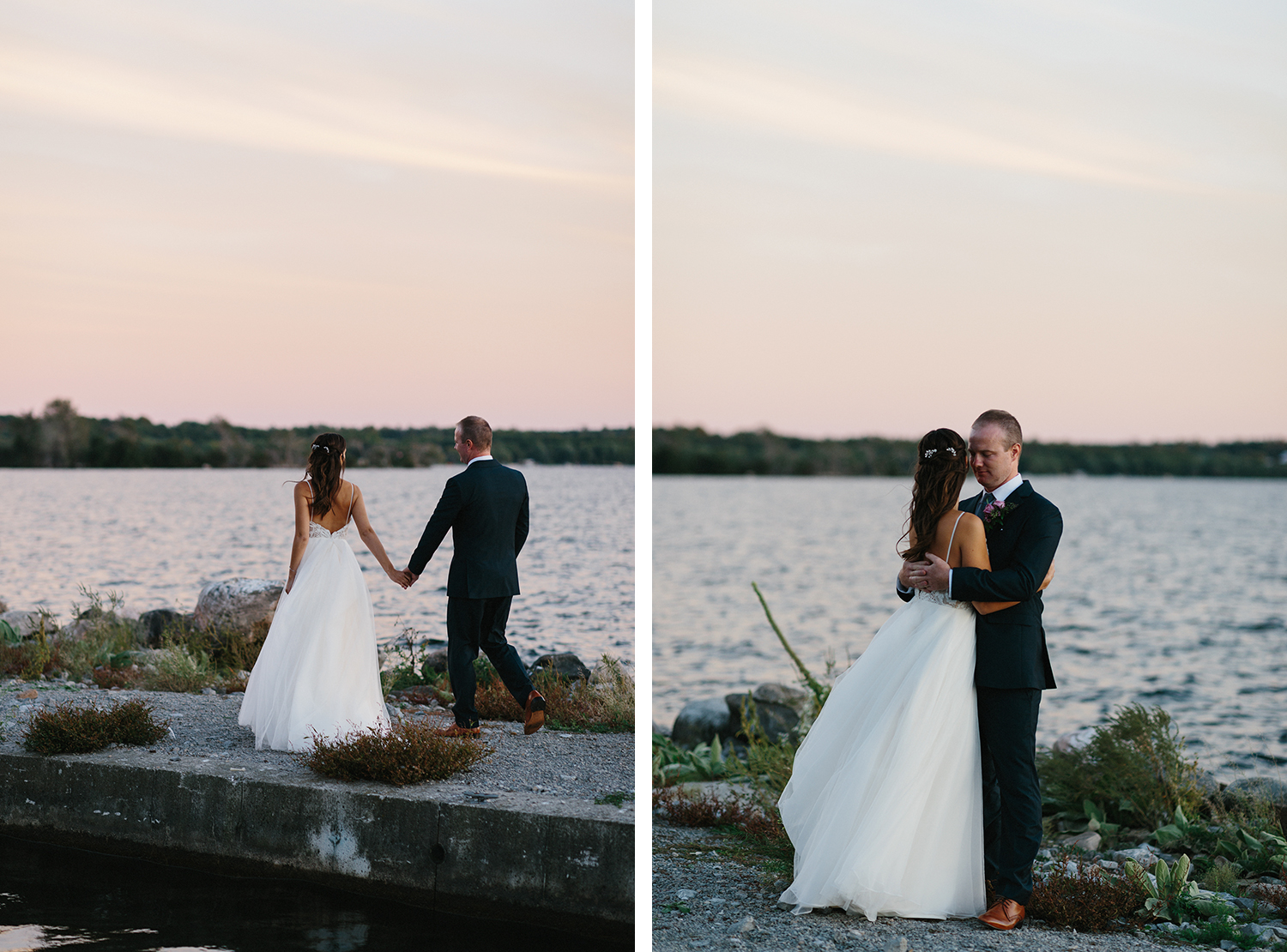 14-sunset-golden-hour-couples-portraits-romantic-moody-pink-sky-At-Eganridge-Resort-Venue-Muskoka-Ontario-Wedding-Photography-by-Ryanne-Hollies-Photography-Toronto-Documentary-Wedding-Photographer.jpg