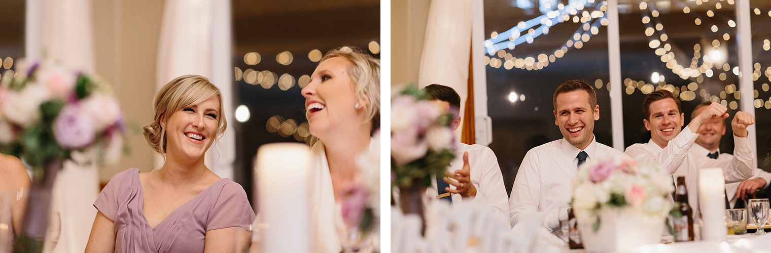 18-bridesmaid-laughing--during-reception-At-Eganridge-Resort-Venue-Muskoka-Ontario-Wedding-Photography-by-Ryanne-Hollies-Photography-Toronto-Documentary-Wedding-Photographer.jpg