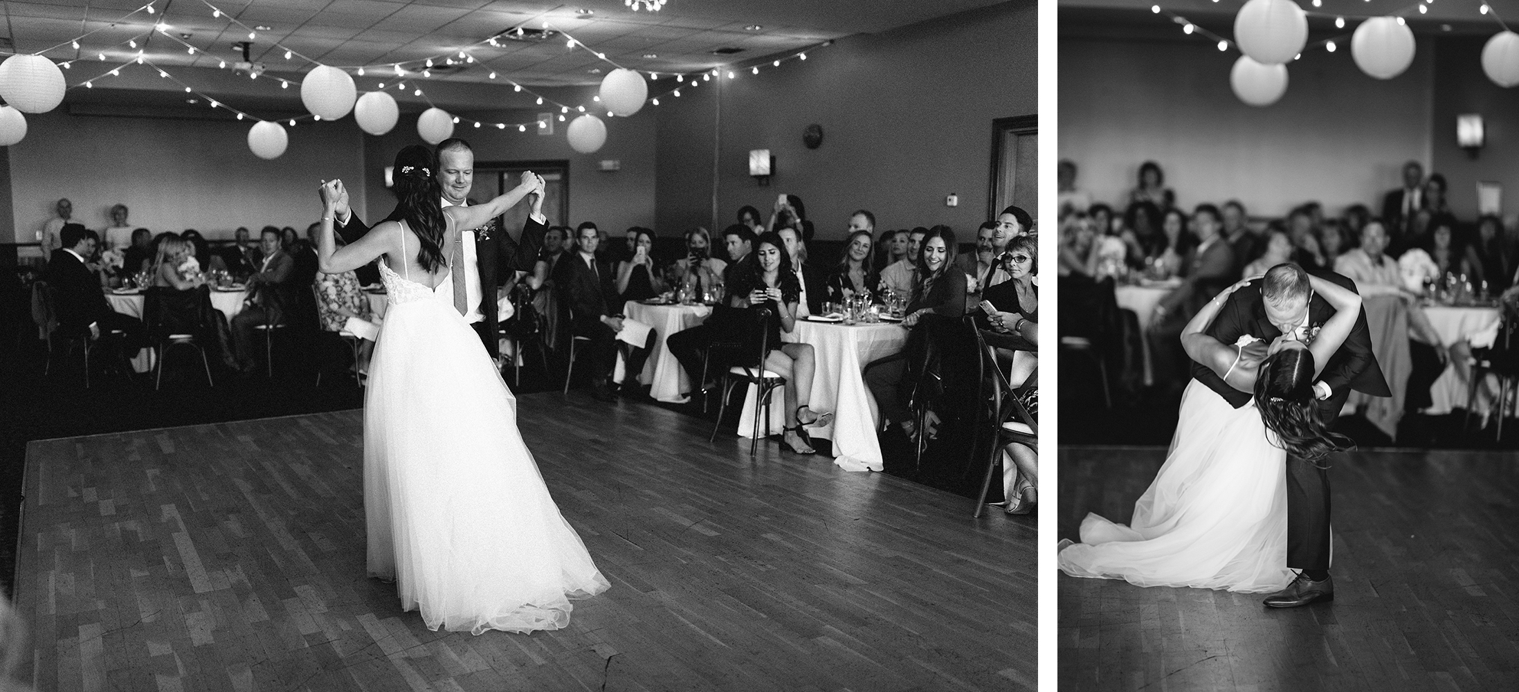 23-bride-and-groom-first-dance-choreographed-dip-during-reception-At-Eganridge-Resort-Venue-Muskoka-Ontario-Wedding-Photography-by-Ryanne-Hollies-Photography-Toronto-Documentary-Wedding-Photographer.jpg