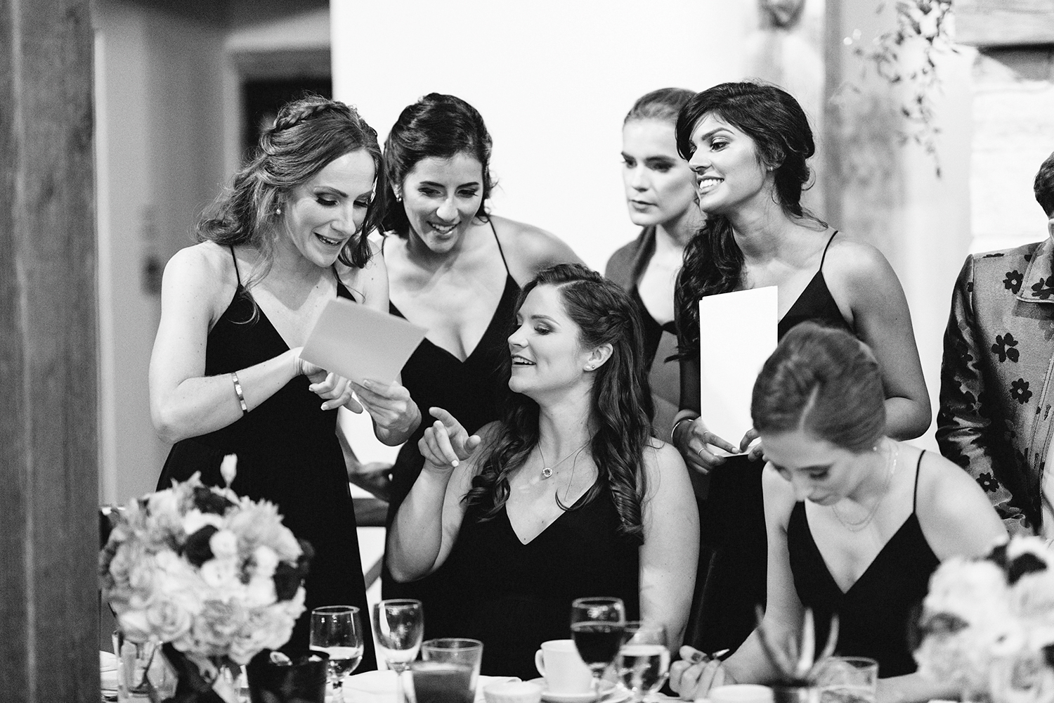bw-reception-diy-bride-and-groom-speeches-games-bridesmaids-helping-toronto's-best-analog-documentary-wedding-photographers-candid-photography-london-ontario-wedding-inspiration.jpg