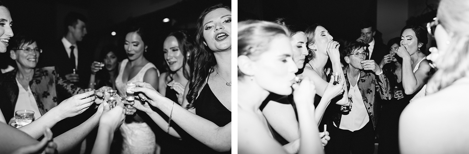 41-guests-dancing-bride-and-bridesmaids-having-shots-partying-candid-moments-toronto's-best-analog-documentary-wedding-photographers-candid-photography-london-ontario-wedding-inspiration.jpg