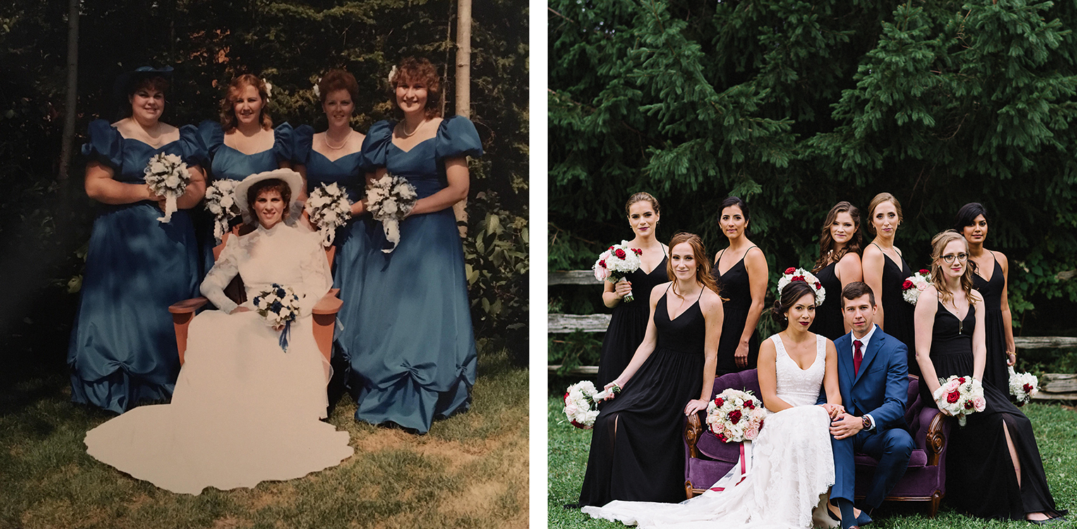 1985-bridal-party-bridesmaids-=vintage-couch-toronto's-best-wedding-photographers-candid-documentary-style-photography-london-ontario-winery-wedding-inspiration.jpg