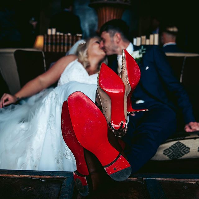 - - - His + Hers - - -  #sleafordphotographer #lincolnshirephotographer #lincolnshireweddingphotographer #lincolnshirevideographers #stubtonhall #stubtonhallweddings #bridalshoes #shoephotography #louboutinheels #louboutinweddingshoes #redsoleshoes #weddingphotography
