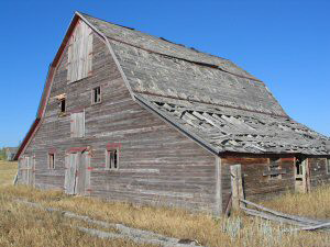 The Miller Barn is located near Four Corners, Wyoming