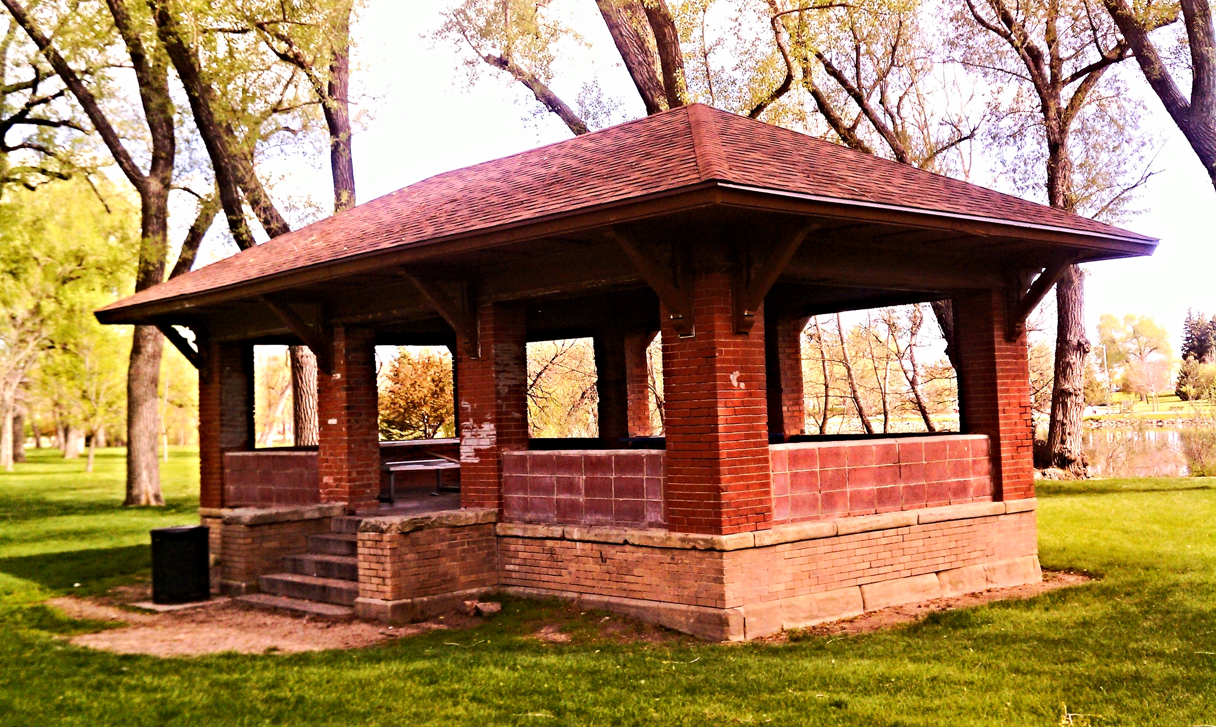The Warren Rest House was moved from downtown Cheyenne to Holliday Park, where it currently lives