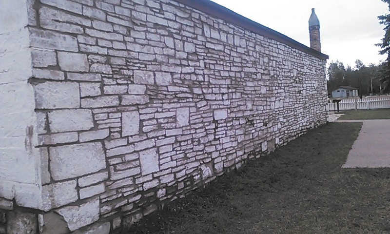 The Milk House is one example of stone construction at Ft. Bridger.