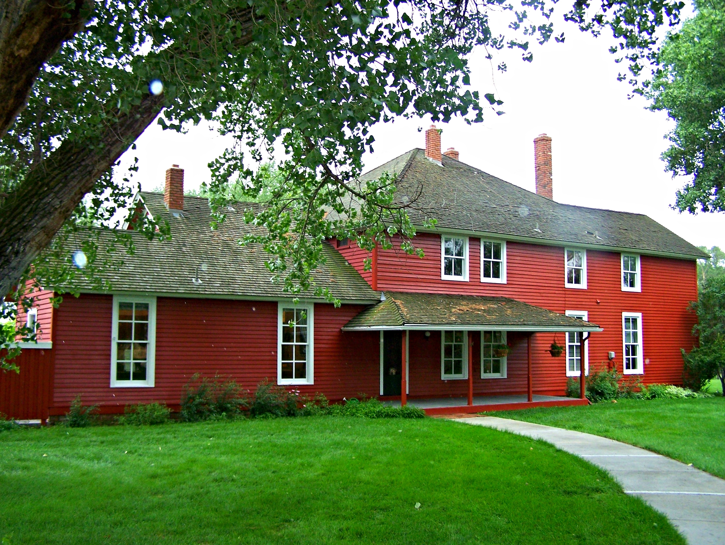 The old house now serves as offices for the foundation. Photo courtesy Ucross Foundation