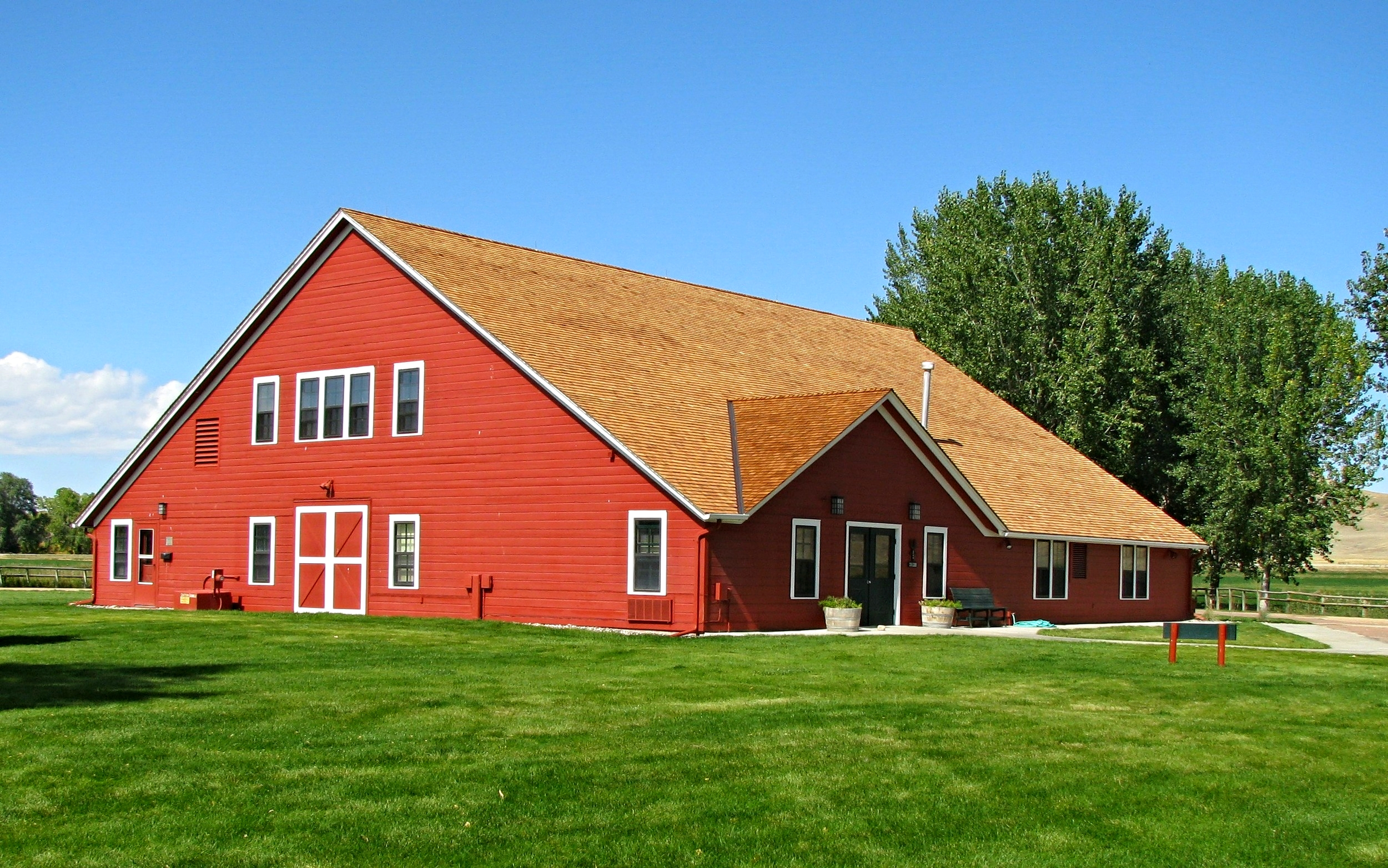 The Big Red Barn now houses an art gallery. Photo courtesy Ucross Foundation