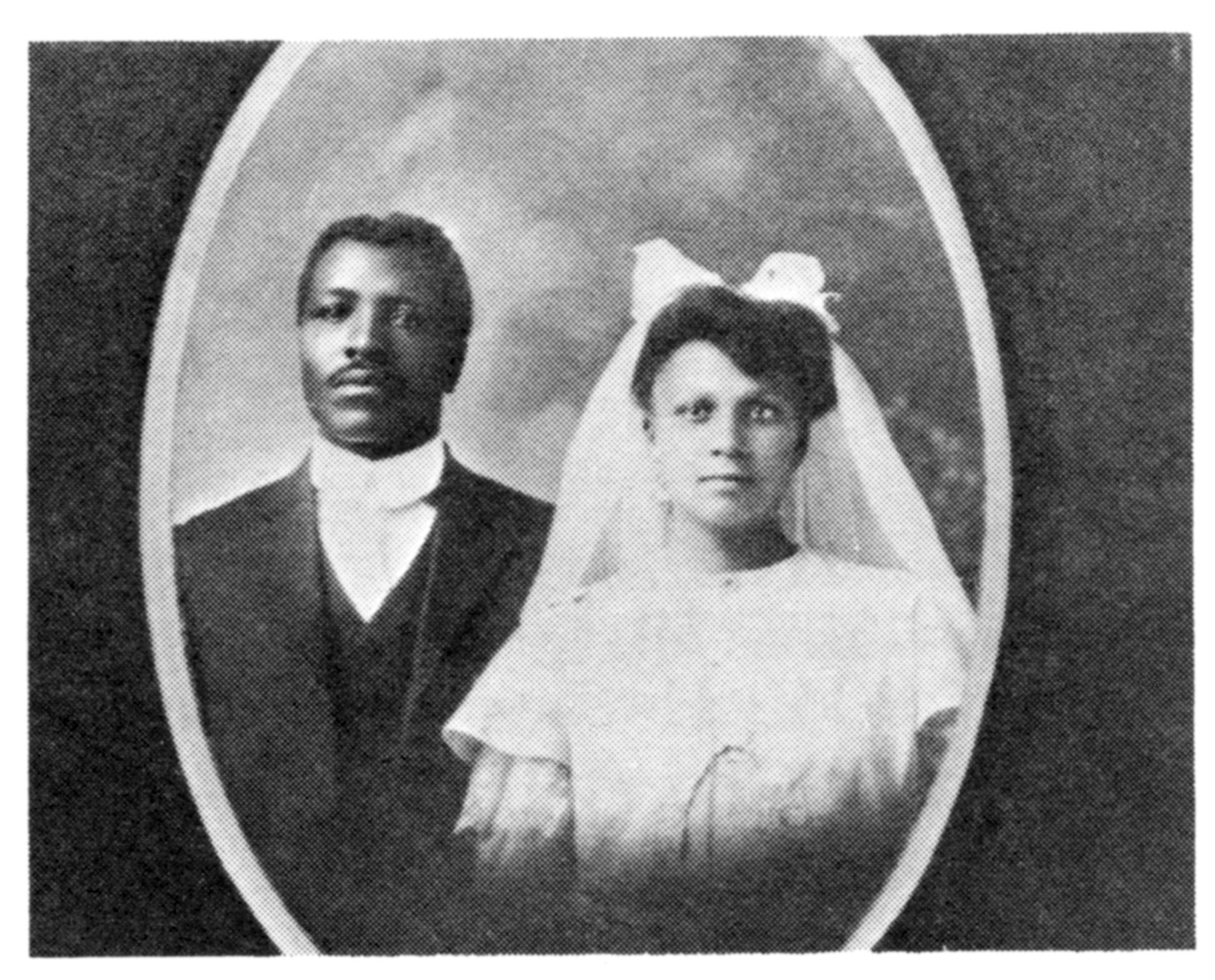 Charles and Rosetta Speese on their wedding day in 1907.