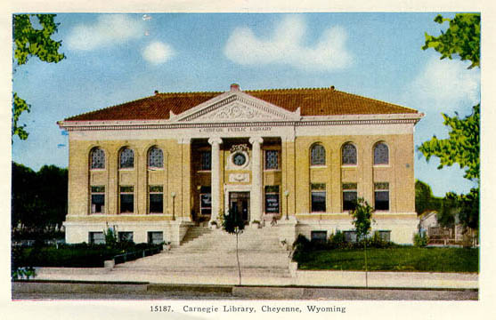 Cheyenne's Carnegie library was demolished in 1971. Pictured above is what it looked like shortly after it was completed.