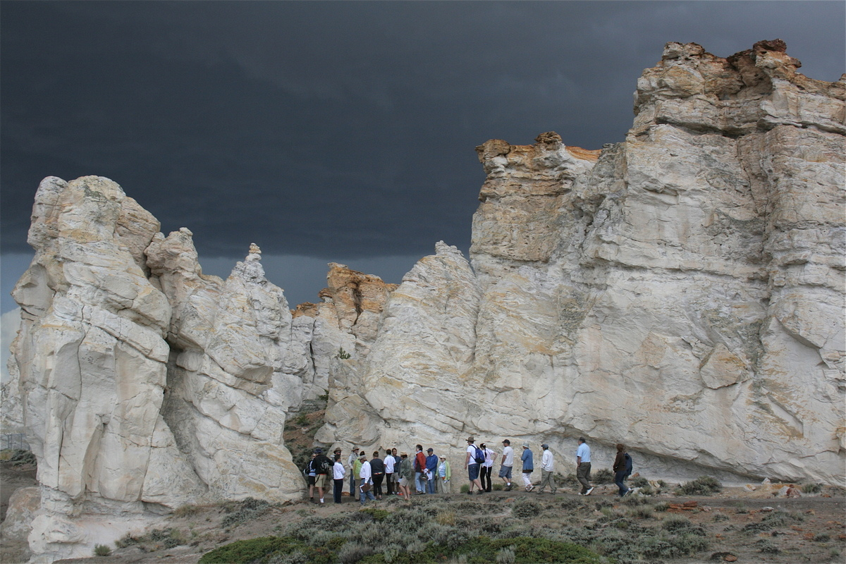 The Alliance for Historic Wyoming hosted a tour of the Castle Gardens site in 2014