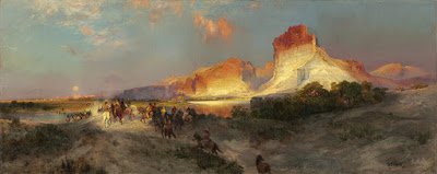 One of several paintings Thomas Moran did of the Palisades in Green River