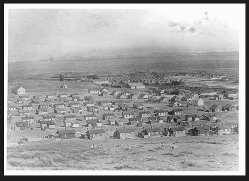 Pre-1918 Hanna, Wyoming. Wyoming State Archives.