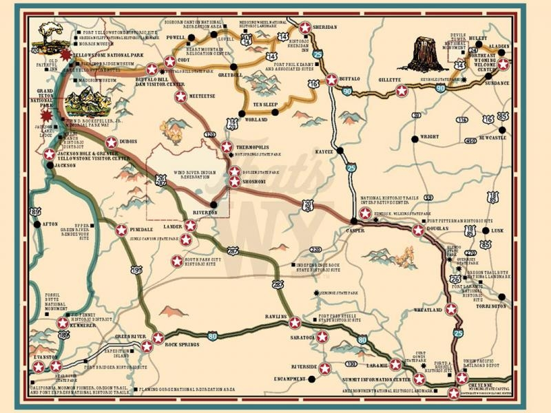 Maps Across Wyoming -