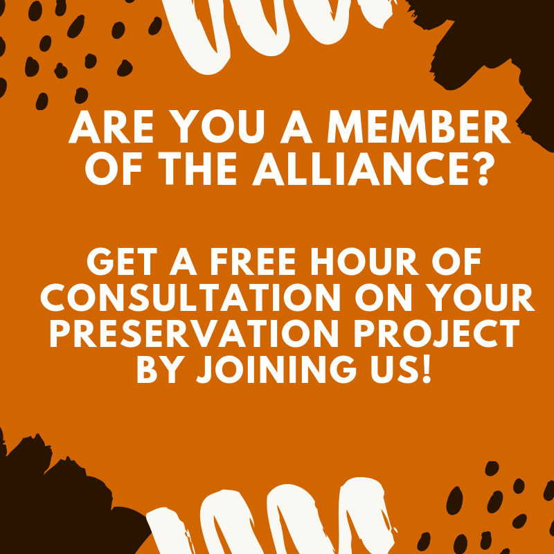 Become a member today and get a free hour of consultation on your preservation project.png