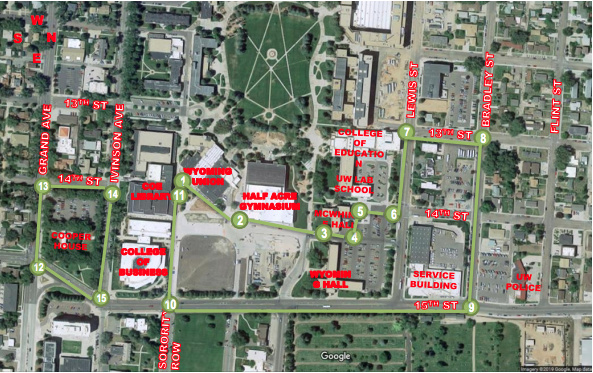 Map showing areas being considered for dormitories, parking, dining services and other student life facilities. http://www.uwyo.edu/administration/housing-task-force/docs/housing-task-force-presentation-050819-final.pdf