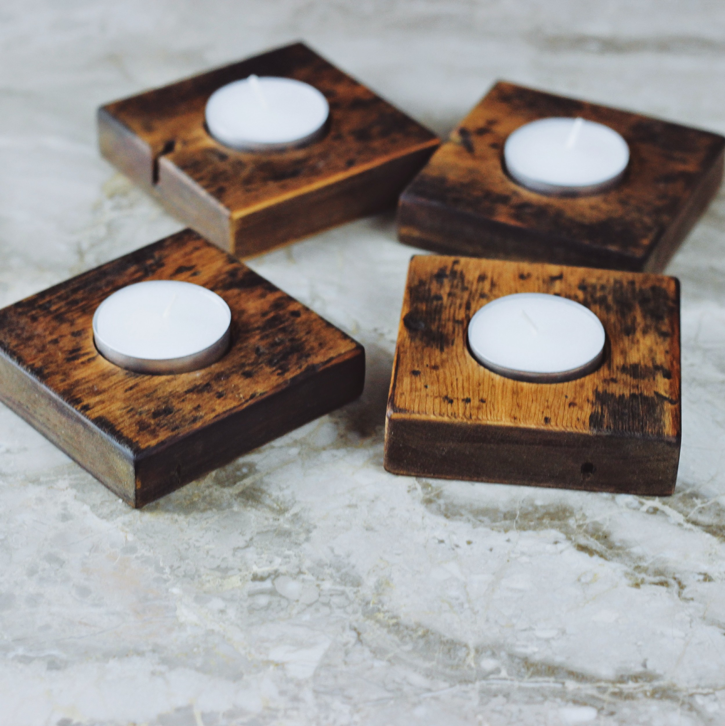 Reclaimed Pine Tea Light Holders