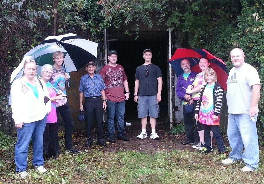 These brave cloggers and family members explored the scary TNT area and lived to tell the tale! (Probably because Mothman was busy at his festival that day.)