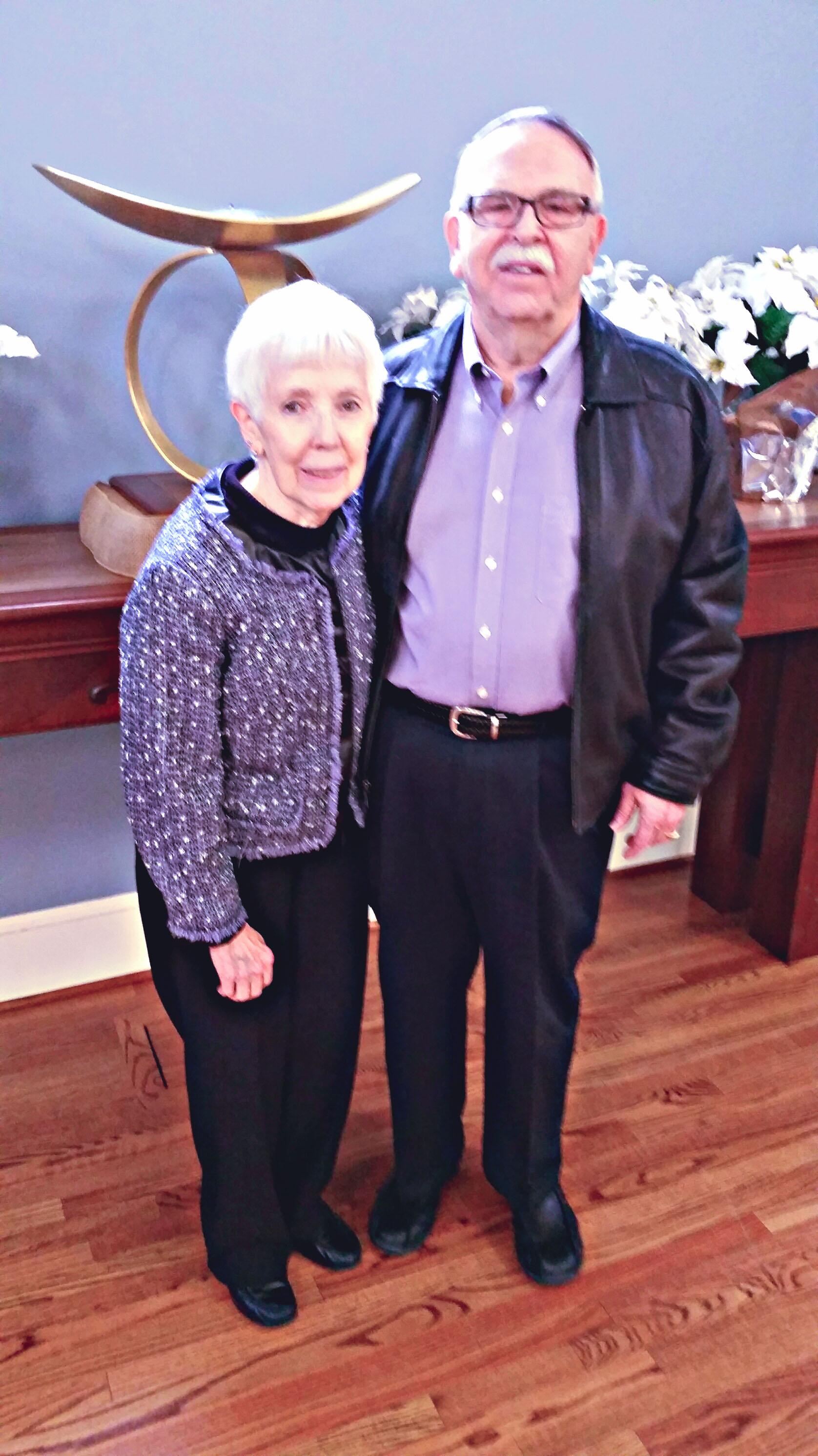 Photo by A.E. Bayne - Natalie and Ray Davis at the Unitarian Universalist Fellowship of Fredericksburg