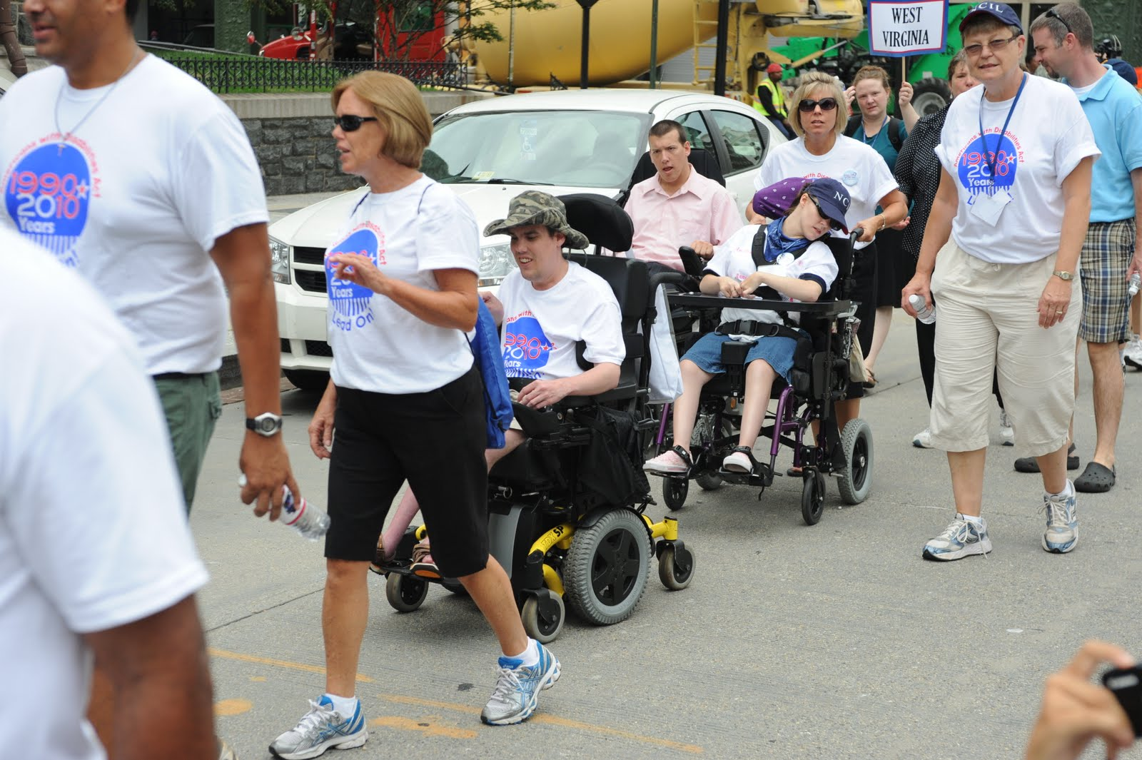 NCIL 2010 March - Photo provided by Fredericksburg disAbility Resource Center
