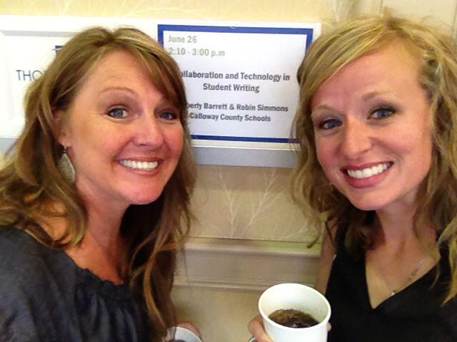 Robin Simmons (right) with colleague Kimberly Barrett