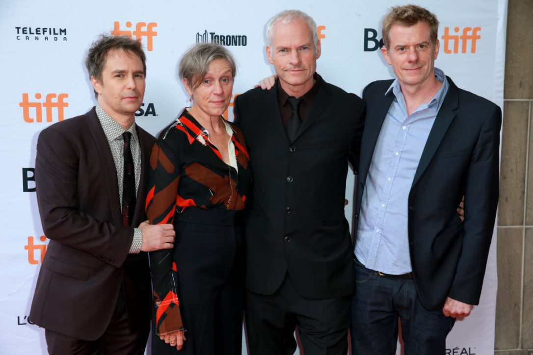 Sam Rockwell, Frances McDormand, Martin McDonagh and Graham Broadbent at the Toronto International Film Festival for  Three Billboards Outside Ebbing, Missouri