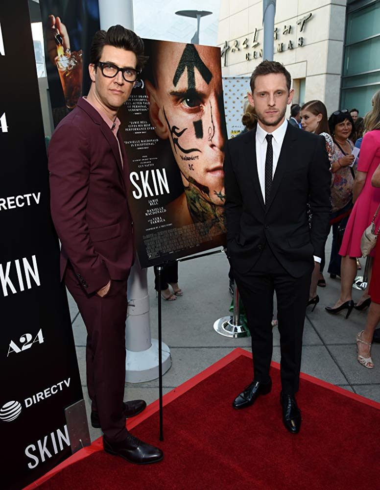 Director Guy Nattiv and actor Jamie Bell at an event for 'Skin'.