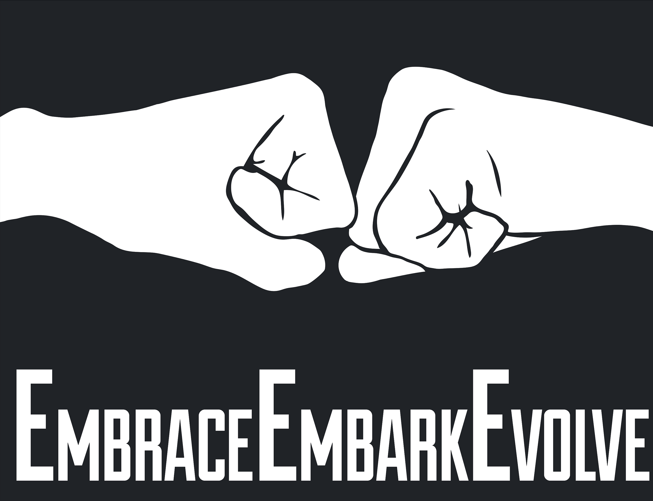 EmbraceEmbarkEvolve fist bump logo