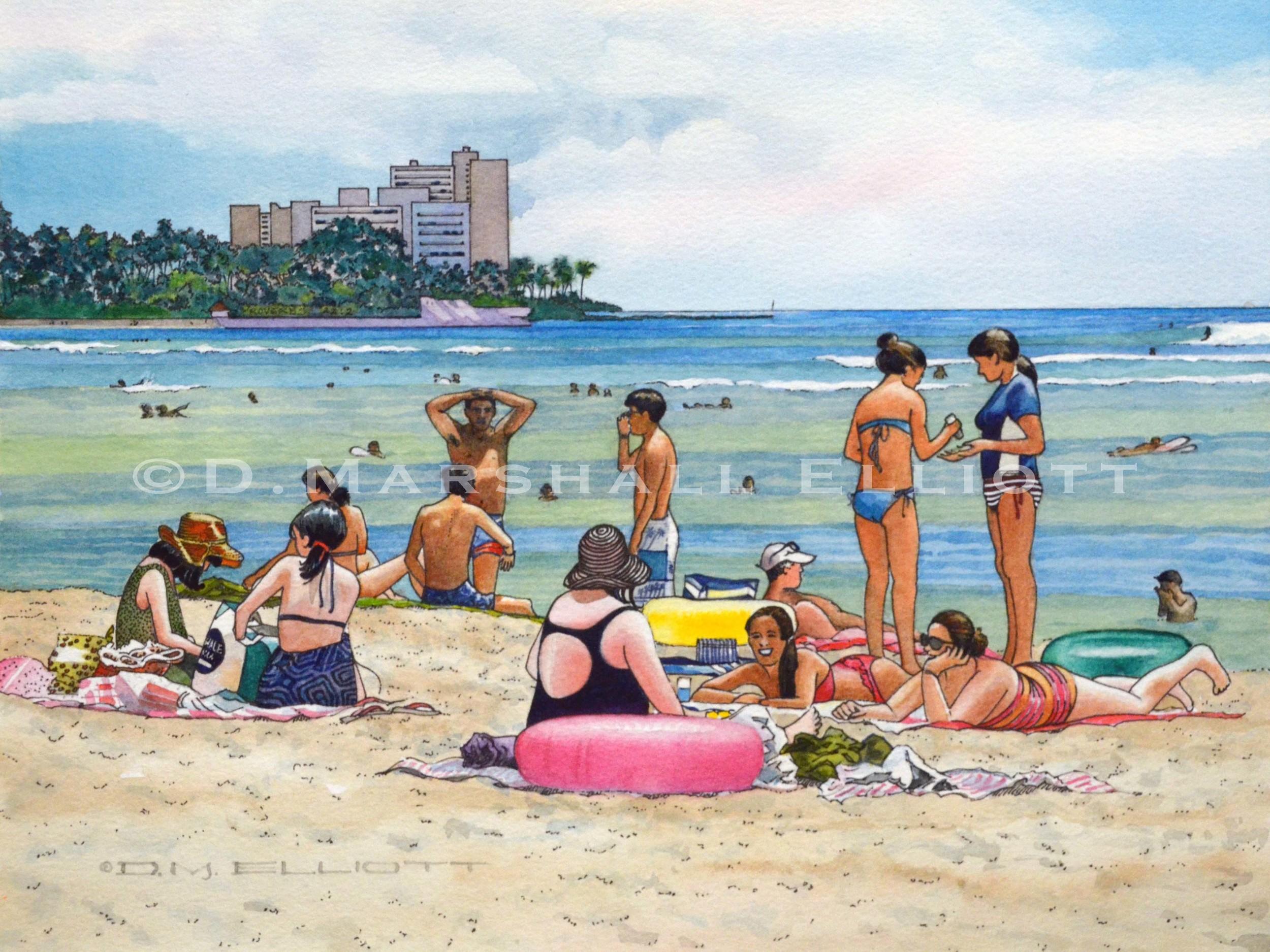 Honolulu, Waikiki Beach.jpg