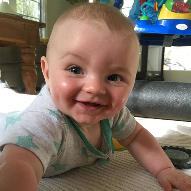 Cheeeeese! . . . #smilingsmyfavorite #cheese #playtime #tommy #baby #7months #smiles